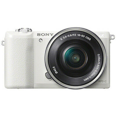 Sony a5100 16-50mm DSLR Camera with 3-Inch Flip Up LCD (White)
