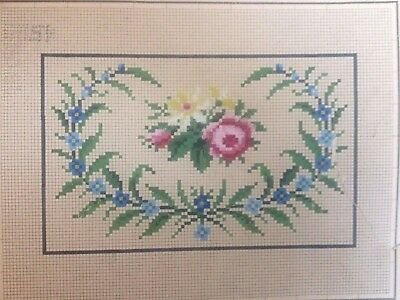 Antique Flower Woolwork Pattern by Bruno Borner in Berlin