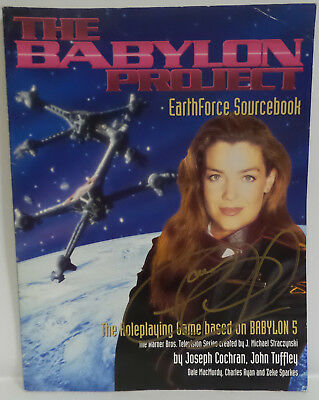 Babylon 5 : The Babylon Project Rpg Book Signed By Claudia Christian (C3) 77