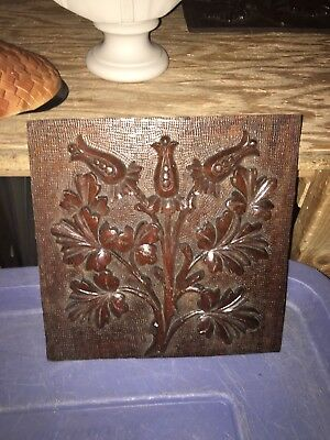 "1930's 9"" Carved Wood Panel Pediment"