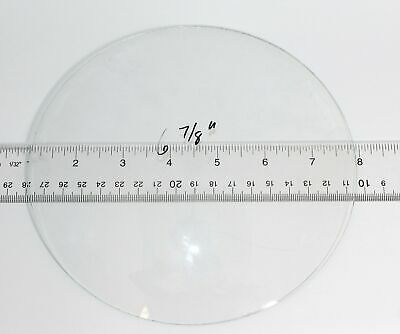 """New Old Stock  6 7/8"""" Convex Clock Glass  Kc197"""