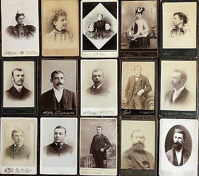 Dealer Lot #2 15 Various Cabinet Cards - $20 Opening Price Without Reserve