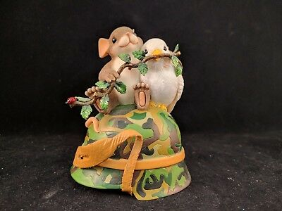 """Charming Tails """"embrace Peace"""" Dove Mouse Military Helmet Usa Limited Edition"""