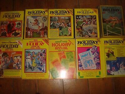 GREYFRIARS  HOLIDAY ANNUALS Howard Baker Billy Bunter Job Lot of 10 Books