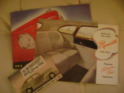 1939 and 1941 Plymouth sales brochures plus postcard