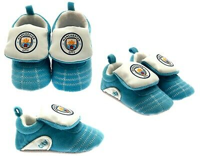 Manchester City Fc Baby Boots Booties Babys Slippers Pram Shoes Crib Mcfc