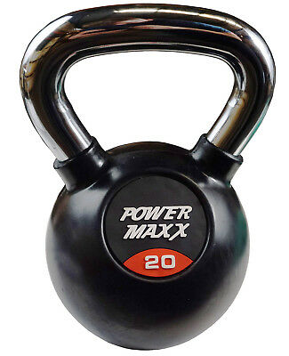 Power Maxx 20kg Kettlebell // Russian Workout Cast Iron Weights Classic Fitness