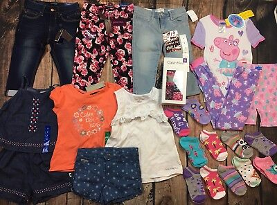 NEW Lot Girls Spring Summer Clothes Outfits Capris Pajamas Socks Size  6