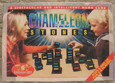 CHAMELEON STONES ~ Memory & Strategy TOWER STACKING BOARD GAME  Recent Toys 2003