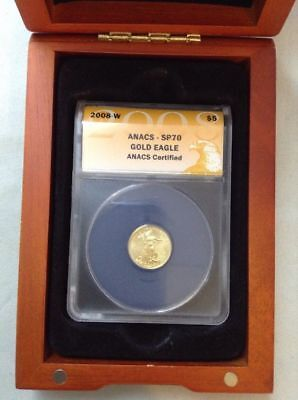 2008 W $5 GOLD EAGLE ANACS SP70 WESTPOINT MINT W/ COA & Box