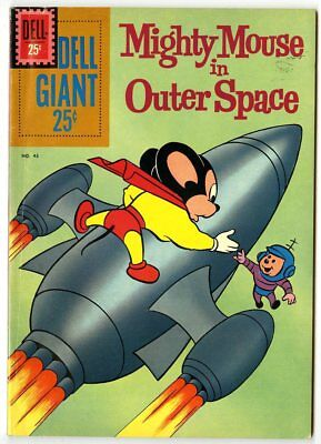 Dell Giant #43 VF+ 8.5  Mighty Mouse in Outer Space  1961  No Reserve