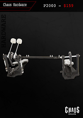Chaos Drums P2000 Double Bass Drum Pedal