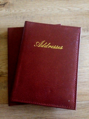 NEW Hardcover Address Book Brown 13 x 18 cm FREE Postage
