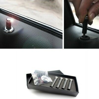Car Truck SUV Carbon Fibre Interior Door Lock Knob Pins 4 Pcs Replace Convenient