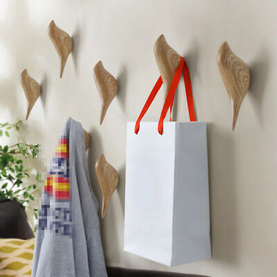 Cute Creative Bird Coat Hat Wood Resin Wall Hook Rail Rack Hanger Organizer