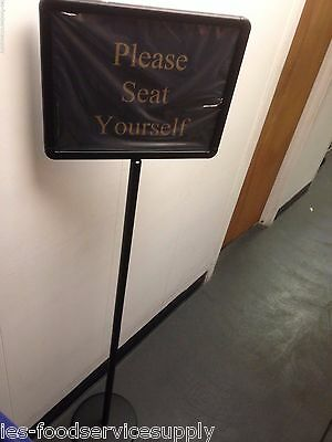 """60"""" Hostess Wait To Be Seated Seat Teller Message Section Closed Board 15 Sign"""