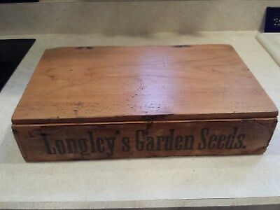 LARGE LOT OF 48 VINTAGE BURT'S SEED PACKETS / 1800s LONGLEY'S GARDEN DISPLAY BOX