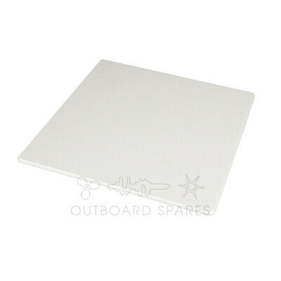 A New Outboard transom board, high density polyethylene, UV stable, white colour