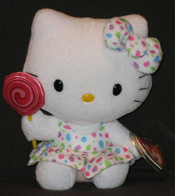 TY HELLO KITTY LOLLIPOP BEANIE BABY - NEW - MINT with  MINT TAGS