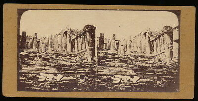 Akropolis in Athen Griechenland - Stereo ca. 1870er