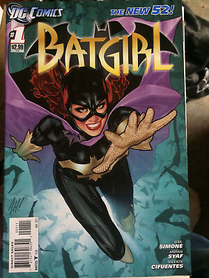 Batgirl Issue 1 New 52 Adam Hughes Cover 2011 1st Print DC Comics Simone Book