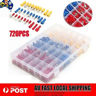 720Pcs Electrical Wire Connector Insulated Crimp Terminals Set Kit NSW STOCK