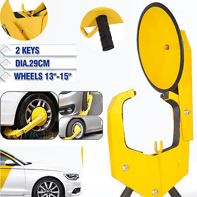2017 Car Vehicle Wheel Lock Clamp Anti-Theft Security Heavy Duty Safety Caravan