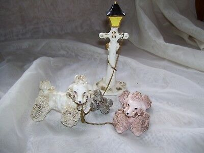 collectable vintage spaghetti poodle family, scarce find,