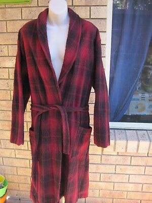 Vintage Mens Givoni Woollen Dressing Gown Size 20