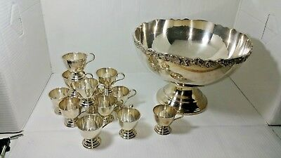 Punch Bowl Nickle Silver Elegant Look On A Budget Christmas Party Wedding