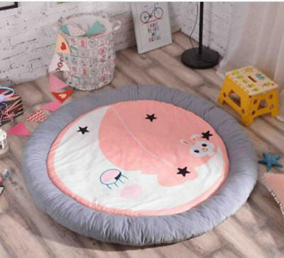 Extra Thick Large Baby Floor Rug Soft Round Modern kids Play Mat Carpet blanket