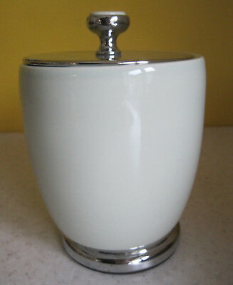 Lovely Art Deco Style Ceramic Storage Jar Pale Green Bedroom Bathroom