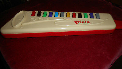 Triola Kinder Blasinstrument mit 12 farbigen Tasten-Made in Germany-melodica