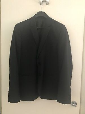 Roger David Black Suit Jacket As New Size 112 Reg, Chest 112cm 70% Wool/30% Poly