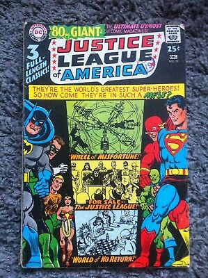 Justice League of America 80pg Giant #58 DC Silver Age Comic 1966 VGFN