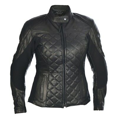 Oxford Interstate CE Armoured Ladies Leather Classic Motorcycle Riding Jacket