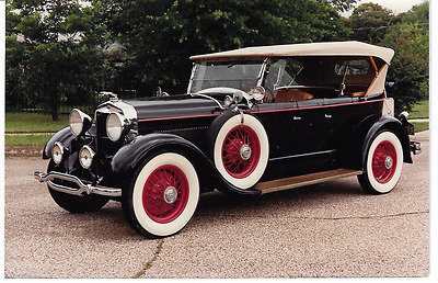 1971 Picture Postcard Showing Circa 1930 Lincoln Touring Car