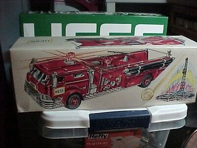 1970 Hess Toy Fire Truck  w/Original Box, Inserts & Battery Card -Like Mint Cond