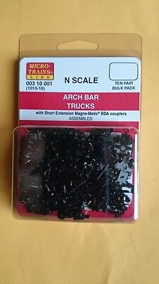 Microtrains - Bulk Pack 10 Pair Short Ext Archbar Trucks/bogies