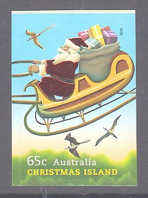 Christmas Island 2016 Christmas Santa embellished mint unhinged s a stamps.