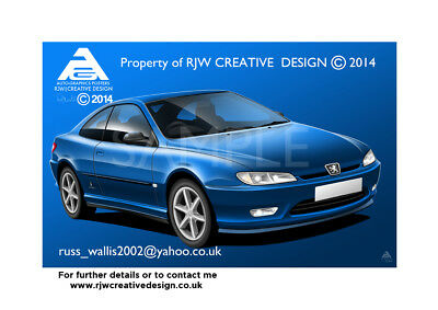 Peugeot 406 coupe Poster