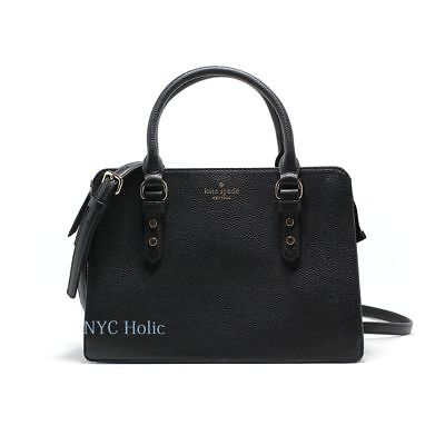 New Kate Spade New York Lise Mulberry Street Satchel Crossbody Black NWT