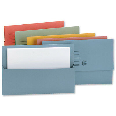 50 A4 Document Wallets Cardboard Envelope Filing Folder Sleeves ASSORTED 250g
