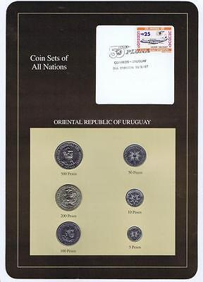 Oriental Republic of Uruguay 6pc Mint Set BU 1989 Coin Sets of All Nations