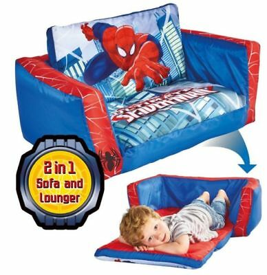 Worlds Apart Spiderman Inflatable Flip Out Sofa, Kids Furniture, ReadyRoom Chair