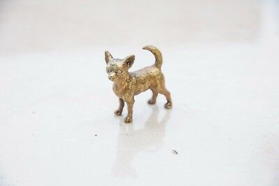 Miniature desktop bronze Chihuahua Figurines - Dog Lovers Collectible