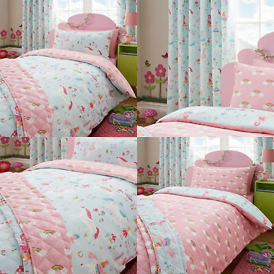 Magical Unicorns Bedding Duvet Cover Set Reversible Multi Matching Accessories