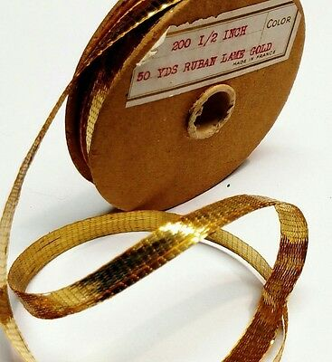 French Tinsel,French Lame, Gold French Lame Trim, Gold French Ribbon