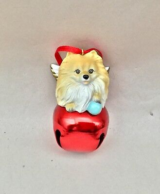Christmas ornament jingle bell and Pomeranian