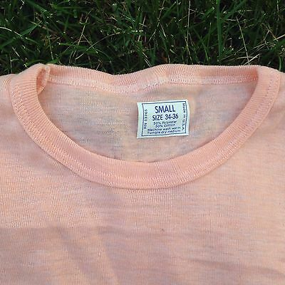 Vintage 70's Woman's Peach Blank Super Stretchy Tee T Shirt